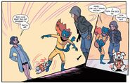 Hedy Wolfe (Earth-616), Betty (Dog) (Earth-616), Patricia Walker (Earth-616) and Jessica Jones (Earth-616) from Patsy Walker, A.K.A. Hellcat! Vol 1 7 001