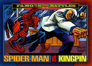 Peter Parker (Earth-616) and Wilson Fisk (Earth-616) from Marvel Universe Cards Series IV 0001