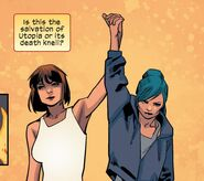 Katherine Pryde (Earth-1610) and Nomi Blume (Earth-1610) from Ultimate Comics X-Men Vol 1 26 0001