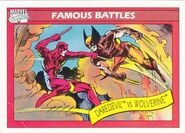 Matthew Murdock vs. James Howlett (Earth-616) from Marvel Universe Cards Series I 0001