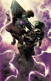 Peter Quill (Earth-616) and Gamora Zen Whoberi Ben Titan (Earth-7528) from Infinity Wars Vol 1 1 001