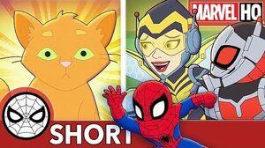 Spidey, Ant-Man & Wasp Face Cat-a-clysm! Marvel Super Hero Adventures - Evil Mittens SHORT