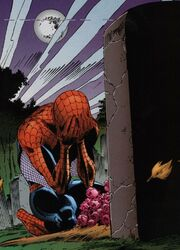 Peter Parker (Earth-616) mourns the loss of Sally Avril from Untold Tales of Spider-Man Vol 1 13