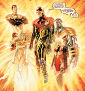 Phoenix Five (Earth-616) and Hope Summers (Earth-616) from Avengers vs. X-Men Vol 1 5 0001