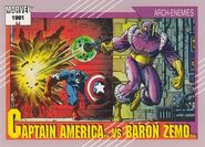 Steven Rogers vs. Helmut Zemo (Earth-616) from Marvel Universe Cards Series II 0001
