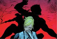 James Howlett (Temporal Paradox) (Earth-61112), Henry Pym (Earth-26111), and Susan Storm (Temporal Paradox) (Earth-61112) from Age of Ultron Vol 1 6 0001