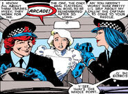 Arcade (Earth-616), Courtney Ross (Earth-616), and Miss Locke (Earth-616) from Excalibur Vol 1 4 0001