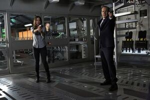 Daisy Johnson (Earth-199999), Leopold Fitz (Earth-199999), and Phillip Coulson (Earth-199999) from Marvel's Agents of S.H.I.E.L.D. Season 1 17 001
