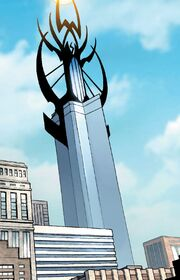 Stark Tower (Columbus Circle, Original) from New Avengers Vol 1 14 001
