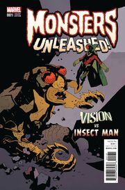 Monsters Unleashed Vol 2 1 Classic Monster vs. Marvel Hero Variant