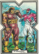 Brian Braddock and Cain Marko (Earth-616) from Excalibur Trading Cards 0001
