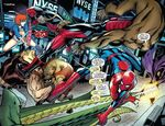 Hateful Hexad (Earth-616) vs. Peter Parker (Earth-616) and Wade Wilson (Earth-616) from Spider-Man Deadpool Vol 1 9 001