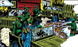 Canadian Army (Earth-616) from Amazing Spider-Man Vol 1 119