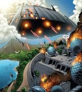 Skrull Battleship from Nova Vol 4 18