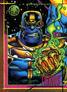 Thanos (Earth-616) from Marvel Universe Cards Series IV 0001