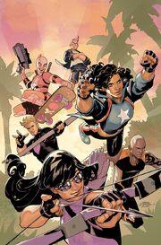 West Coast Avengers Vol 3 1 Dodson Variant Textless