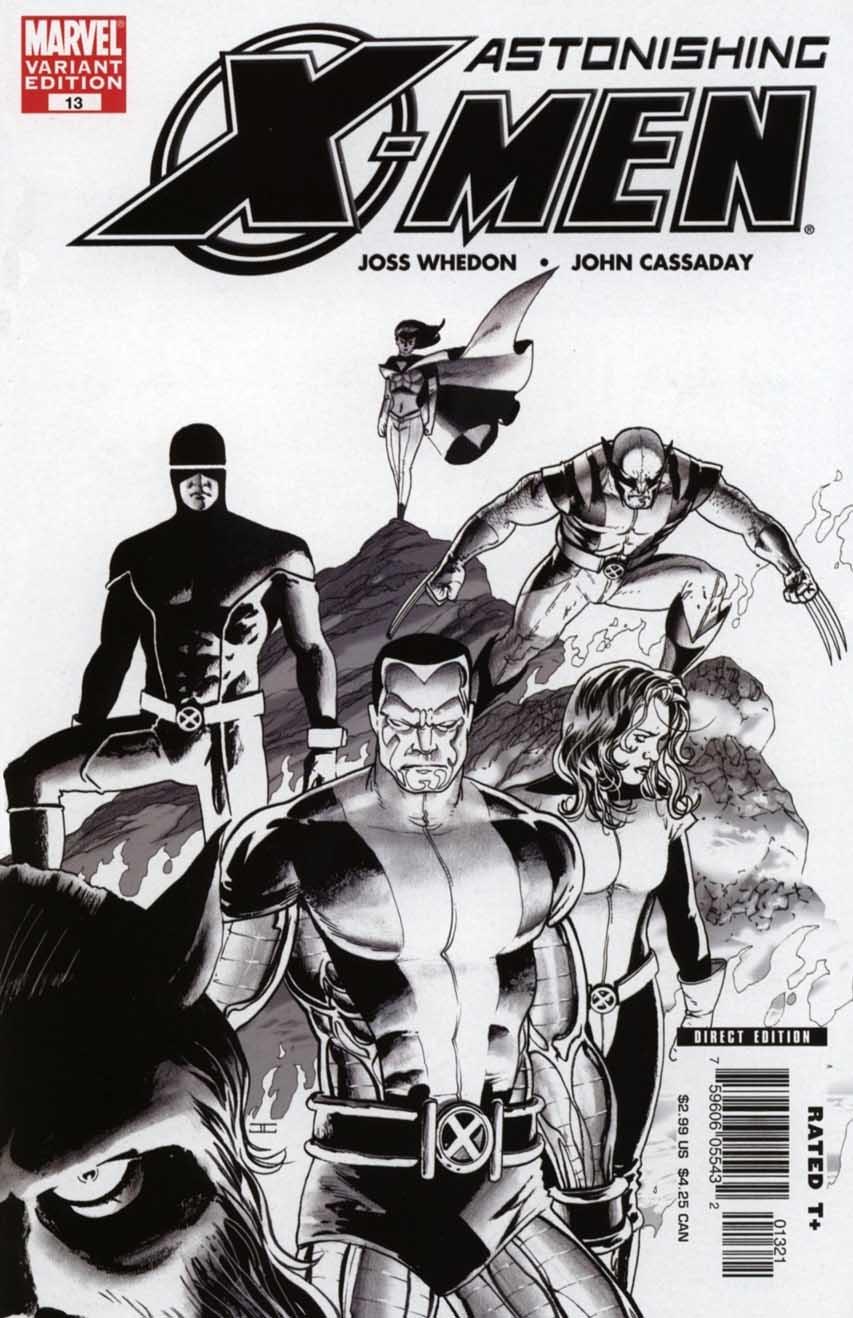 Astonishing X Men Vol 3 13 Variant Sketch