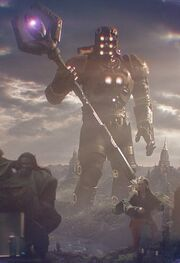 Eson (Earth-199999) and Power Gem from Guardians of the Galaxy (film) 001