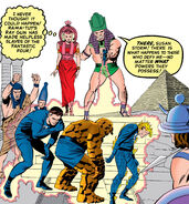 Fantastic Four (Earth-616) enslaved by Nathaniel Richards (Rama-Tut) (Earth-6311) from Fantastic Four Vol 1 19 Cover
