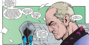 Pietro Maximoff (Earth-1298) and Max Eisenhardt (Earth-1298) talking about Wanda Maximoff (Earth-1298) from Mutant X Vol 1 12