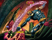Annihilus (Earth-616) and Richard Rider (Earth-616) from Annihilation Vol 1 6 001