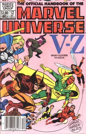 Official Handbook of the Marvel Universe Vol 1 12