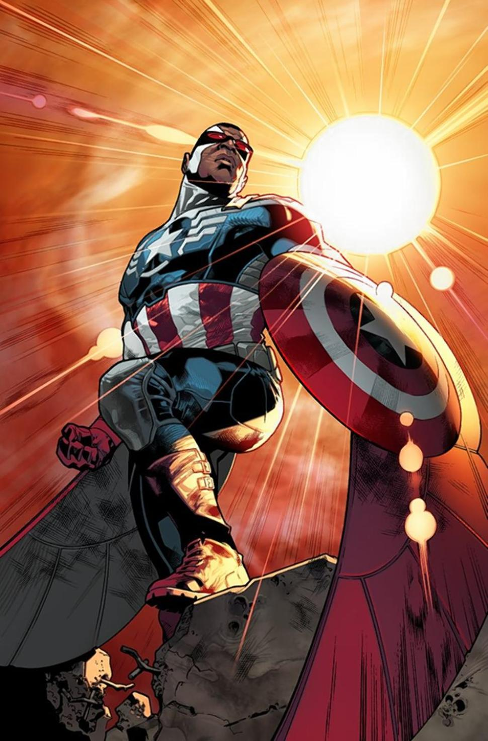 Samuel Wilson Earth 616 Marvel Database Fandom Powered By Wikia Iron Man Circuit Superhros Comics Logostore Becoming Captain America