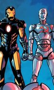 Anthony Stark (Earth-616) and Udarnik (Earth-616) from Iron Man Fatal Frontier Infinite Comic Vol 1 4 001