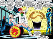 Arcade (Earth-616), Courtney Ross (Earth-616), and Miss Locke (Earth-616) from Excalibur Vol 1 4 0002
