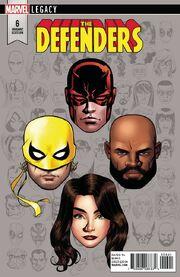 Defenders Vol 5 6 Legacy Headshot Variant