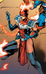 Laura Danvers (Warp World) (Earth-616) from Secret Warps Arachknight Annual Vol 1 1 0001