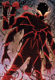 Miles Morales (Earth-1610) and Miles Morales' Symbiote (Earth-616) from Absolute Carnage Miles Morales Vol 1 3 001