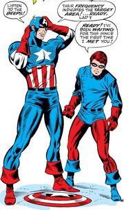 Steven Rogers (Earth-616) and Richard Jones (Earth-616) from Captain America Vol 1 110 001