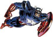 Steven Rogers (Earth-616) in Captain America's Exoskeleton from Captain America Vol 1 438 0001