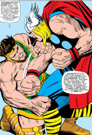 Thor Odinson (Earth-616) versus Hercules from Thor Vol 1 126