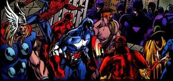 Avengers (Earth-5700) from Weapon X Days of Future Now Vol 1 4 0001
