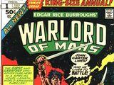 John Carter Warlord of Mars Annual Vol 1