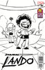 Star Wars Lando Vol 1 1 Skottie Young Black and White Variant