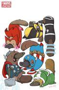 Uncanny Avengers Vol 1 18.NOW Animal Variant Textless