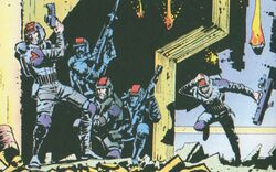Greater Metropolitan Military Police (Earth-5555) from Dragon's Claws Vol 1 1 0001