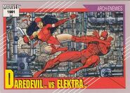 Matthew Murdock vs. Elektra Natchios (Earth-616) from Marvel Universe Cards Series II 0001