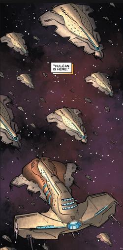 Shi'ar Imperial Fleet (Earth-616) from X-Men Emperor Vulcan Vol 1 1