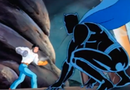 T'Challa (Earth-534834) and Ulysses Klaw (Earth-534834) from Fantastic Four (1994 animated series) Season 2 7 0001