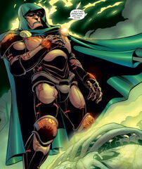 Victor von Doom (Earth-616) and Doctor Doom's Mystical Armor from Fantastic Four Vol 3 67 0001