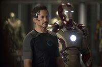 Anthony Stark (Earth-199999) with Iron Man Armor MK XLII (Earth-199999) from Iron Man 3 (film) 003