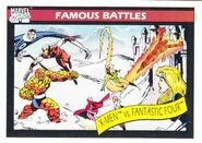 Fantastic Four vs. X-Men (Earth-616) from Marvel Universe Cards Series I 0001