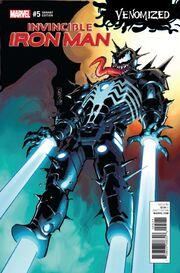 Invincible Iron Man Vol 4 5 Venomized Variant