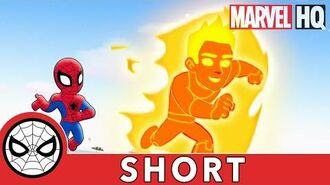 Spidey & Human Torch Collab! Marvel Super Hero Adventures - It's Too Darn Hot