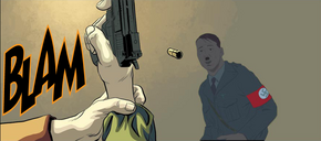 Assassination attempt at Adolf Hitler from Red Skull Vol 1 5