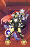 Captain America Vol 7 6 Many Armors of Iron Man Variant Textless